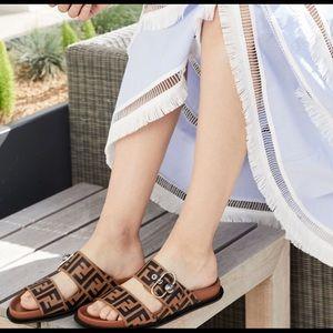 Fendi Pearland Logo Sandal Eu